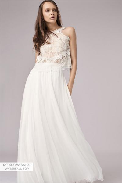 Waterfall Wedding Dress -...