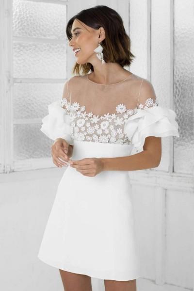 Short Wedding dress Rime Arodaky Astaire