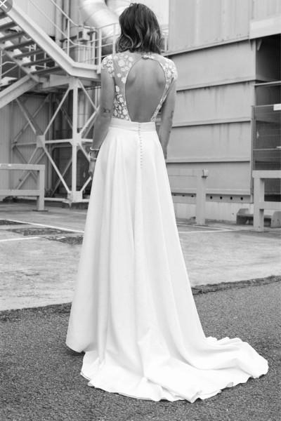Wedding skirt Rime Arodaky Clyde back