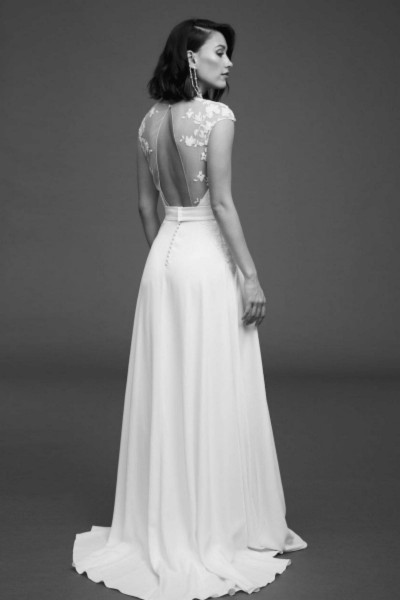 Wedding Dress Rime Arodaky Jackson back