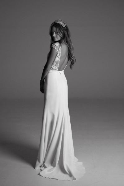 Wedding dress Rime Arodaky Sewell back