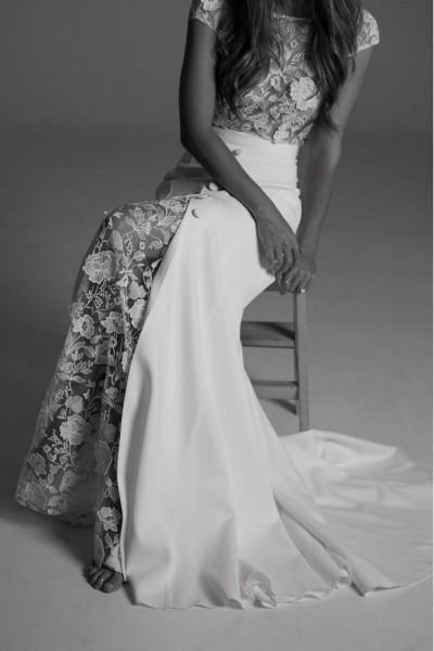 Wedding dress Rime Arodaky Sewell skirt