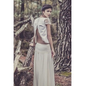 Wedding skirt Laure de Sagazan Bergman back
