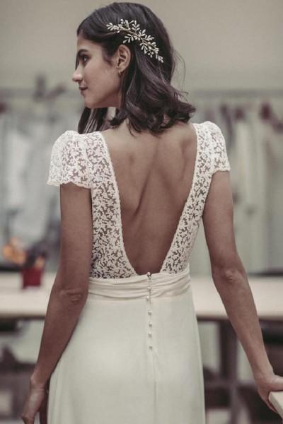 Wedding dress Laure de Sagazan Bukowski back