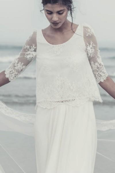 Wedding Top Laure de Sagazan Pagnol front