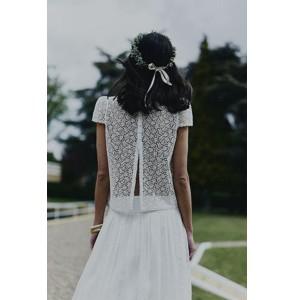 Wedding Top Laure de Sagazan Parny back