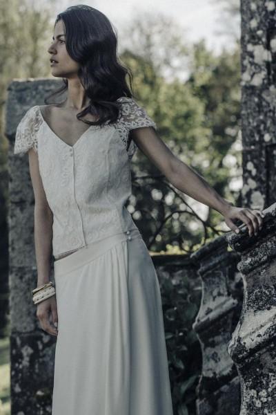 Wedding Top Laure de Sagazan Renard front