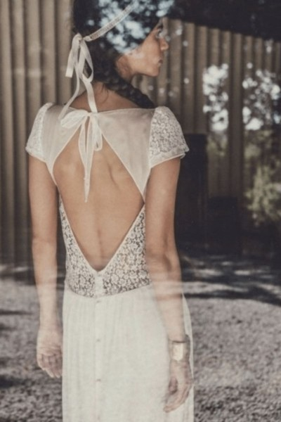 Wedding dress Laure de Sagazan Stiller back
