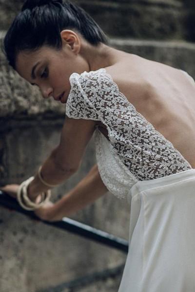 Wedding Dress Laure de Sagazan Zola back