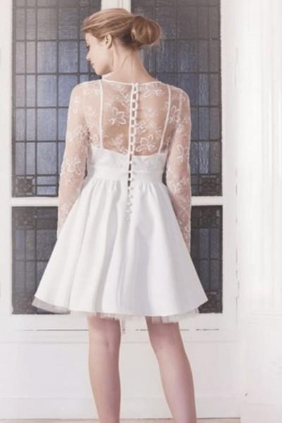 Wedding dress Harpe Ballerine back