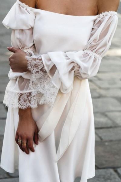 Short wedding dress Harpe Nina front