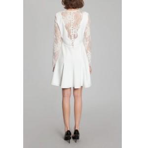 Short wedding dress Harpe Romy back