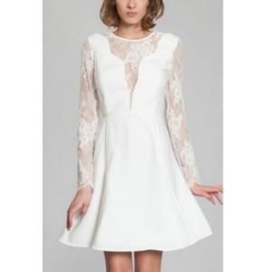 Short wedding dress Harpe Romy front