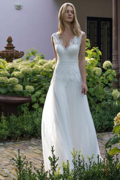Wedding dress Modeca Dante front