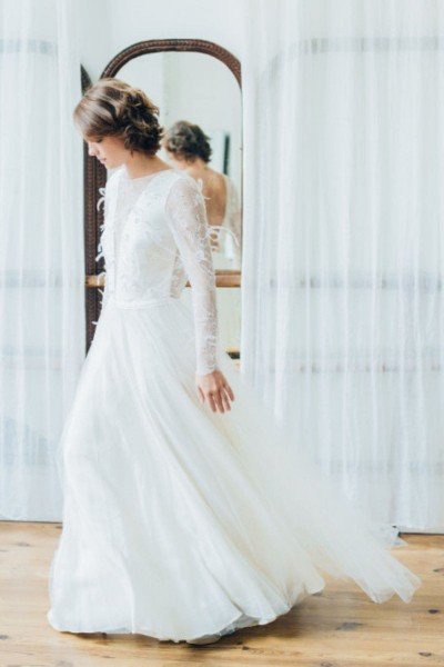 Wedding dress Atelier Swan Yuna side