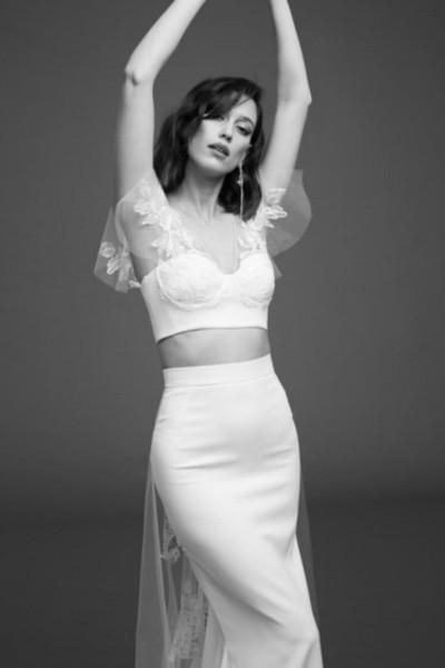 Wedding top & skirt Rime Arodaky Kim Wylde front bust