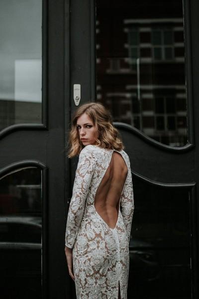 Wedding dress Manon Gontero Brent back close up