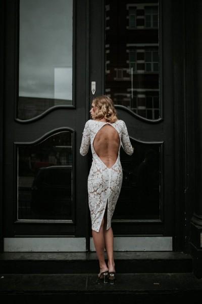 Wedding dress Manon Gontero Brent back