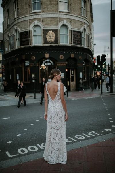 Wedding dress Manon Gontero Brixton back