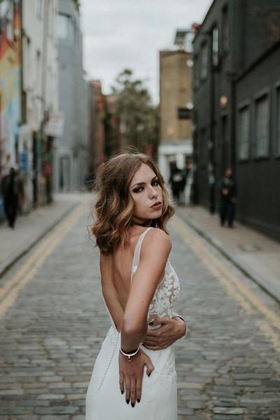 Wedding dress Manon Gontero Chelsea back