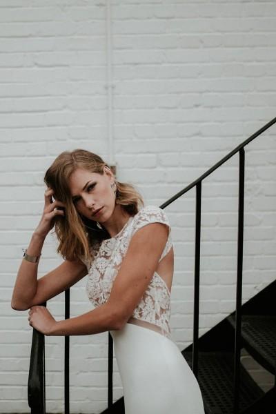 Wedding dress Manon Gontero Soho front close up