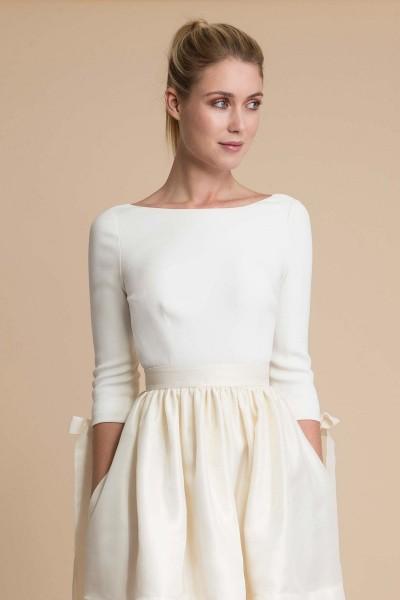 Wedding top Delphine Manivet Cyrus front