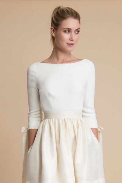 Wedding top Delphine Manivet Cyrus front