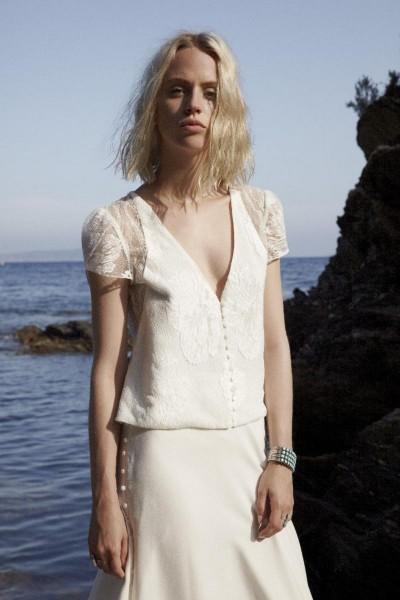 Wedding top Elise Hameau Lila front