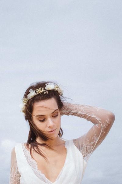Wedding flower crown Les couronnes de Victoire Isabela front