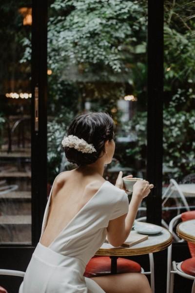 Wedding double comb Les couronnes de Victoire Berenice back