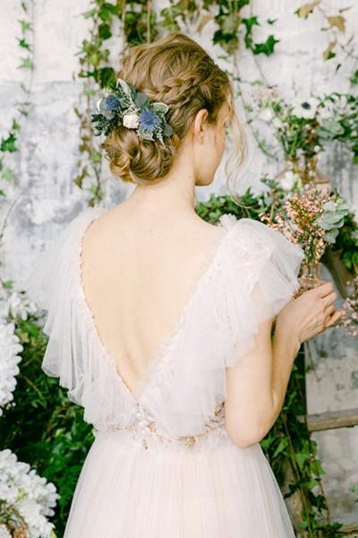 Wedding double comb Les couronnes de Victoire Garance back