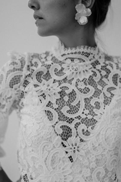 Wedding top Victoire Vermeulen Ronsard front close up