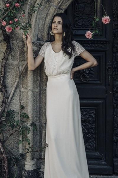 Wedding dress Laure de Sagazan front