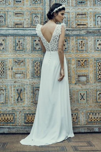 Wedding dress Laure de Sagazan Crimée back