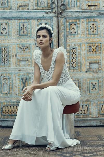 Wedding dress Laure de Sagazan Crimée front close up