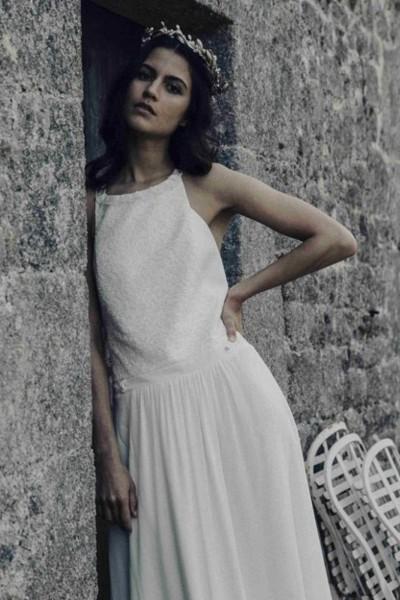 Wedding dress Laure de Sagazan Amboise front