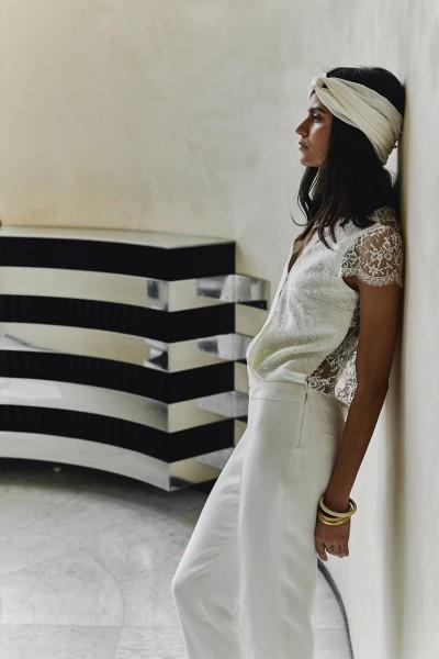 Wedding Jumpsuit Laure de Sagazan Marais side