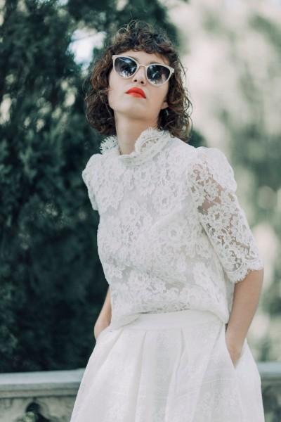 Wedding skirt Laure de Sagazan Alberty front