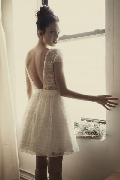 Short Wedding dress Laure de Sagazan Corbière back