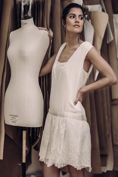 Short wedding dress Laure de Sagazan Sartre front