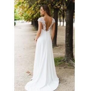 Wedding dress Harpe Trianon back