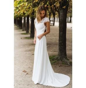 Wedding dress Harpe Trianon side