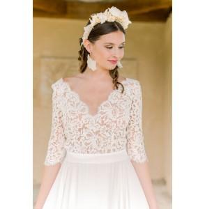 Wedding dress Oksana Kokhan Amaryllis front close up
