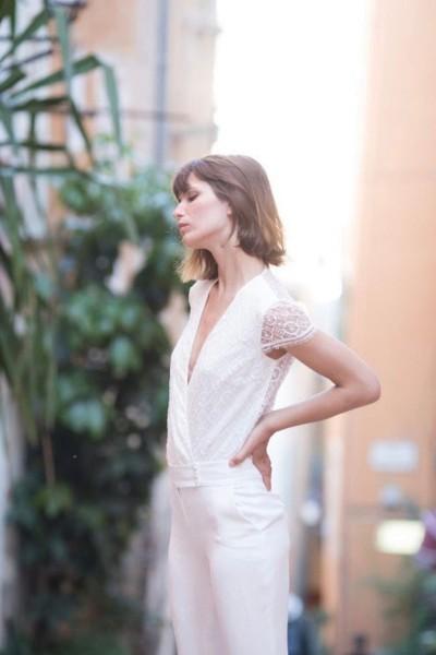 Wedding Jumpsuit Alba 24h dans la vie d'une femme side close up