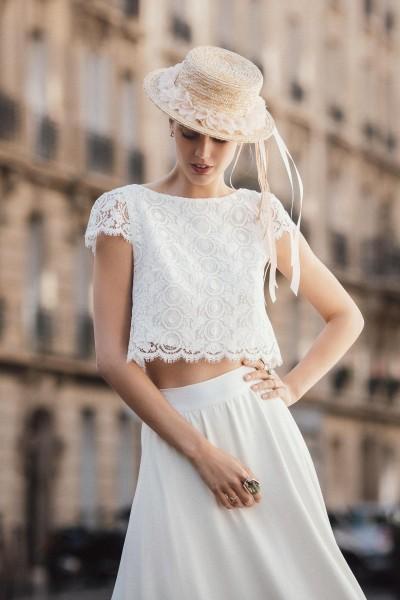 Wedding Skirt Alba Promenade front