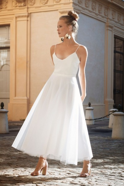 Wedding dress Alba Echapée front