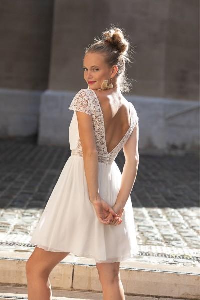 Wedding dress Alba Adagio back