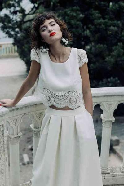 Wedding skirt Laure de Sagazan Varda front
