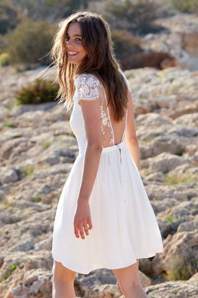 Short Wedding Dress Laure de Sagazan Camomille back