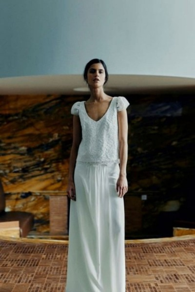 Wedding skirt Laure de Sagazan Greta front (2)